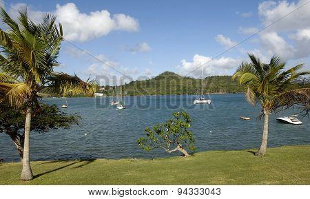 Landscape Of Le Diamant In Martinique