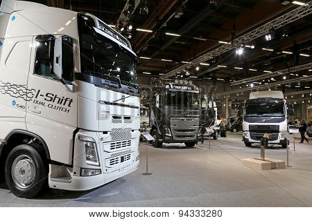 Volvo FH And FE Trucks At Logistics Transport 2015