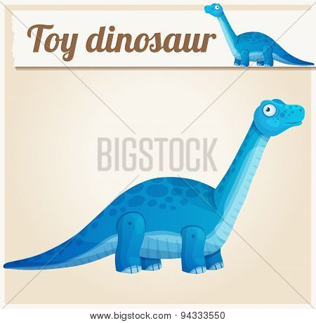 Toy dinosaur . Cartoon vector illustration. Series of children's toys