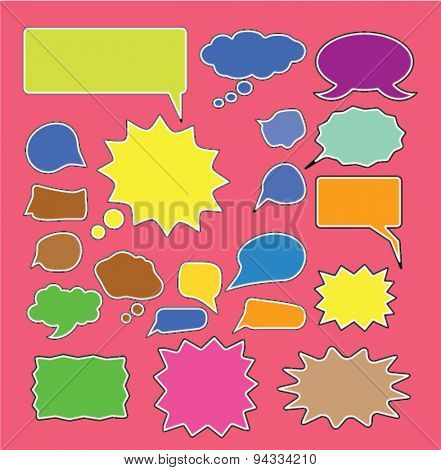 chat, speech, bubbles isolated icons, signs, illustrations for web, internet, mobile application, vector