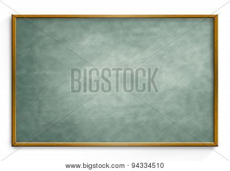 Black Chalk board isolated white background.