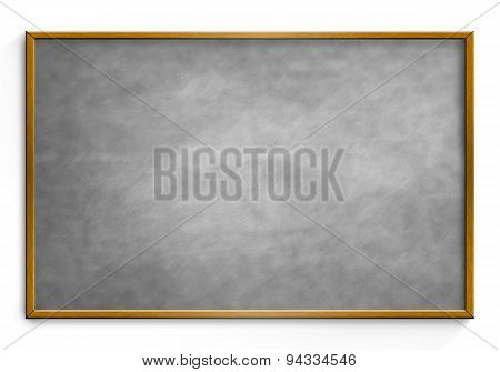 Grey Chalk Board Isolated White Background.
