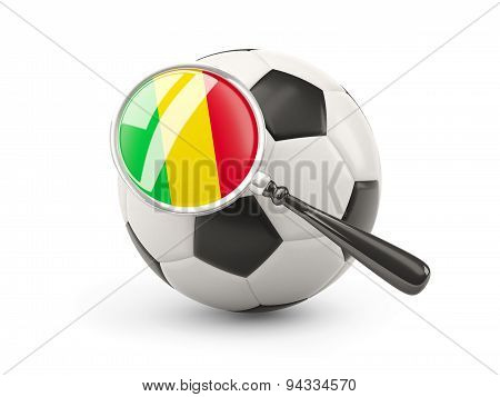 Football With Magnified Flag Of Mali