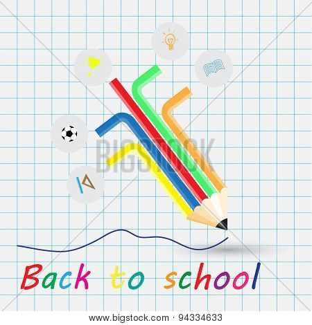 Back To School, School Design Over White Background Vector Illustration