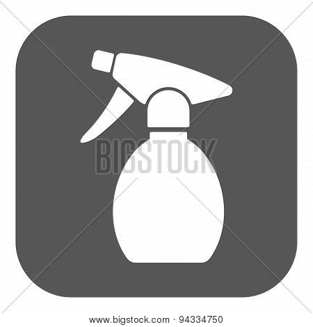 The Sprayer Icon. Atomizer Symbol. Flat