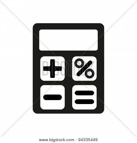The Calculator Icon. Accounting Symbol. Flat