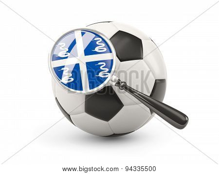 Football With Magnified Flag Of Martinique
