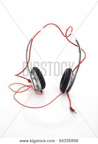 White Headphone On White Background