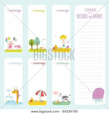 Template for school notebook, diary and organizers