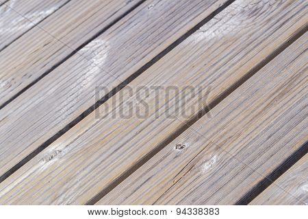 Diagonal Closeup On Beige Wooden Planks Floor