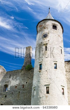 The Main Tower Of The Episcopal Castle In Haapsalu, Estonia