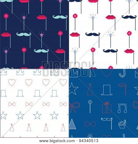 Seamless vector pattern with party elements