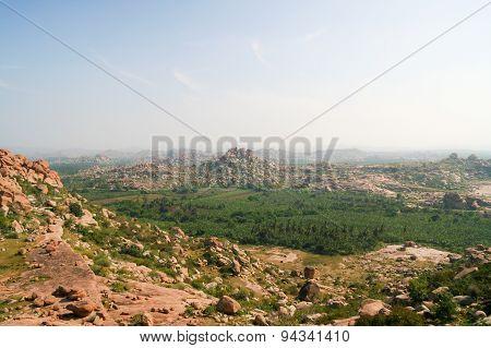 Landscape from hampi karnataka india