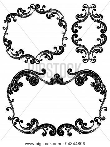 Ornate Scroll Frames
