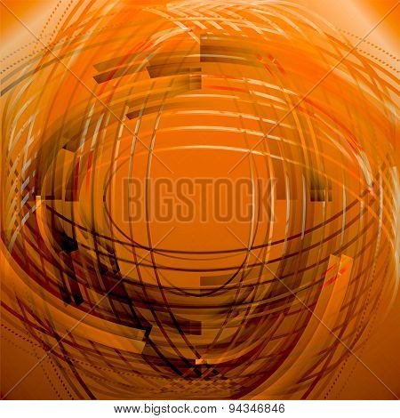 Abstract business technology orange circle line