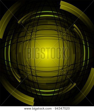 Abstract green background of rotating