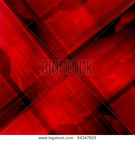 Dark red hi-tech background design template abstract