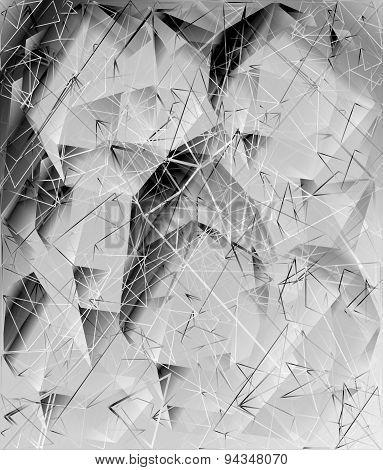 Gray White Black Design Templates. Geometric Triangular Abstract Modern Background