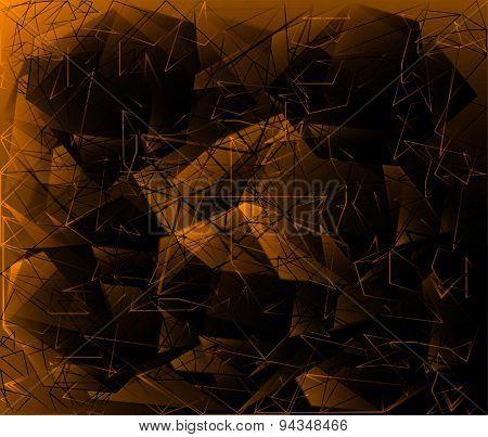 Polygonal Abstract geometrical dark background