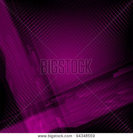 Purple abstract background with delicate grid pattern and lines for high tech or financial adverttis
