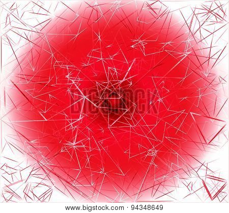 Red Background with polygonal shapes