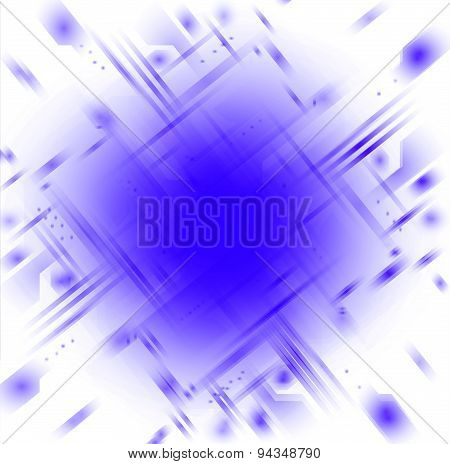 Tech background in the blue color