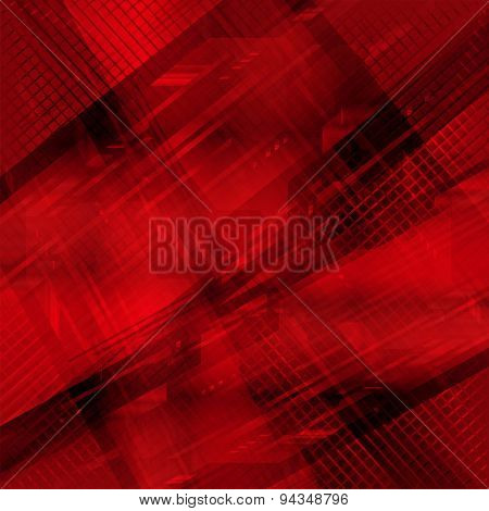 Technicaltechnology background red