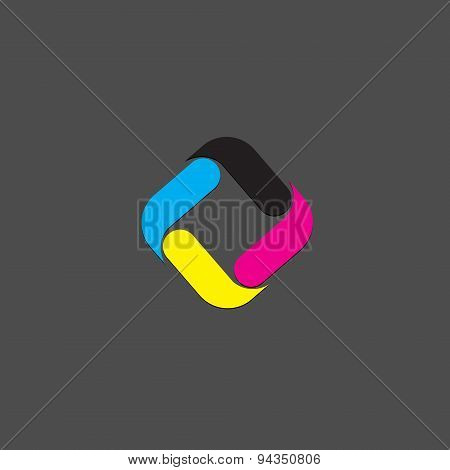 Vector sign CMYK, Printing