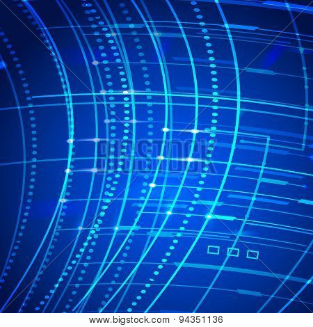 Technology Abstract Background Grow Bright Light Element 007