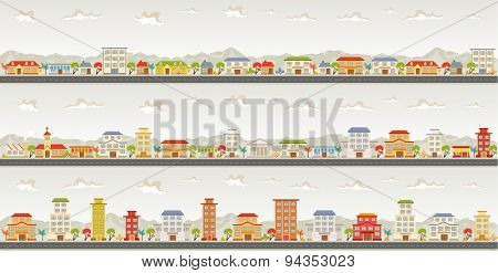 Streets of a colorful city
