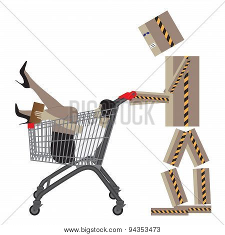 Sale, Shopping, Black Friday. Conceptual Vector Illustration.