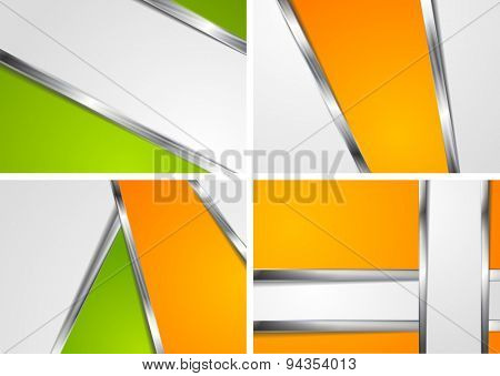 Abstract corporate backgrounds with metallic elements. Raster design