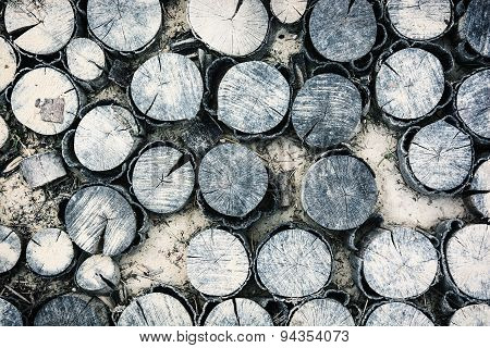 Background Of Chopped Wood