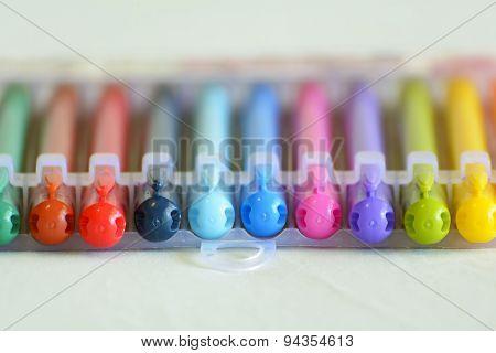 Multicolored magic pen blur