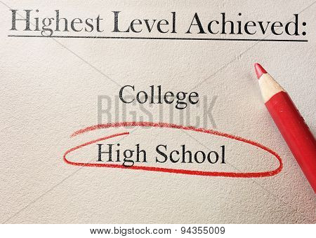 High School Red Circle
