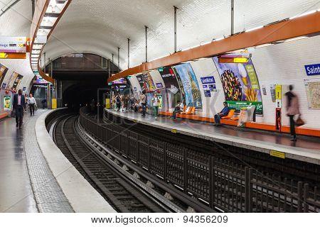 Saint-michel. Parisian Subway Station