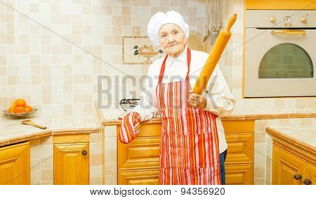 Lady With Rolling Pin