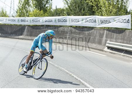 The Cyclist Tanel Kangert - Tour De France 2014