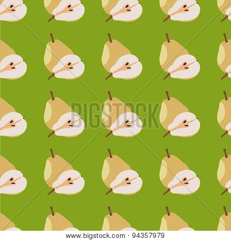 Yellow Pears Seamless Pattern