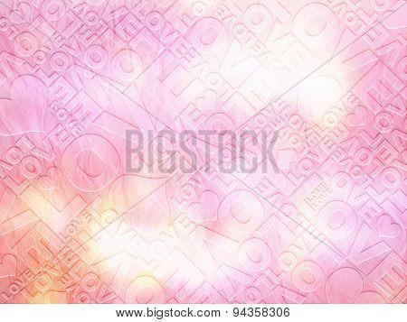 Love Delicate Valentine's Day Typographic Texture