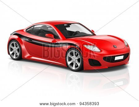 Super Car Elegant Automobile Contemporary Coupe Transportation Concept