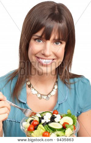 Woman, Vegetables And Fruits