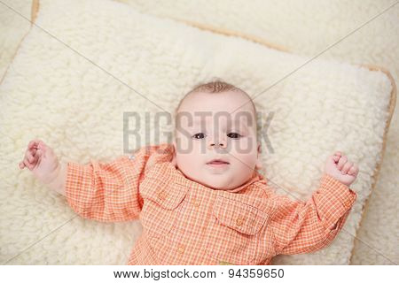 Baby Boy On Blanket