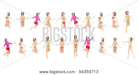 Many of the same Model Isolated over White