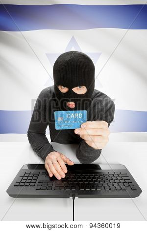 Cybercrime Concept With National Flag On Background - Israel