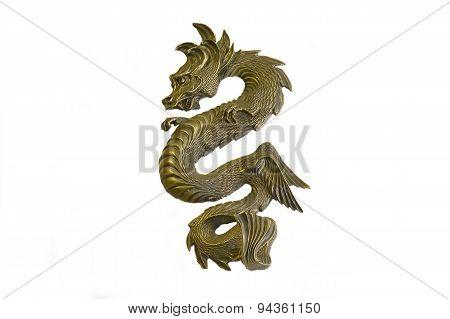 Chinese Metal Dragon Figure