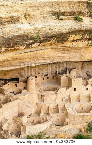 Cliff Dwellings In Mesa Verde National Parks, Co, Usa