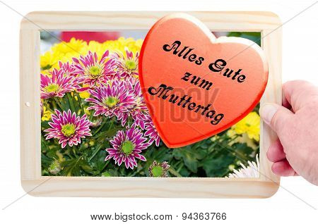 Photo Frames With Flowers Image And Heart