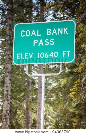 Coal Bank Pass Sign