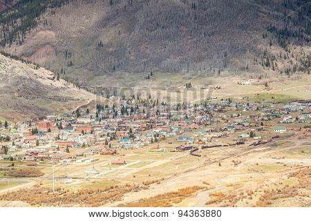 Silverton Panorama, Colorado, Usa